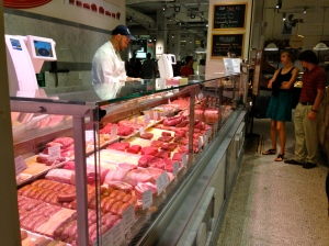 Huge butcher counter